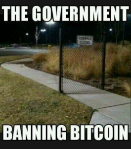 The Government Banning Bitcoin